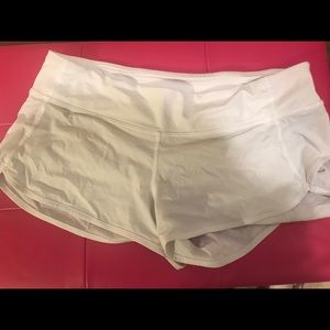 Lululemon speed short— white, size 8